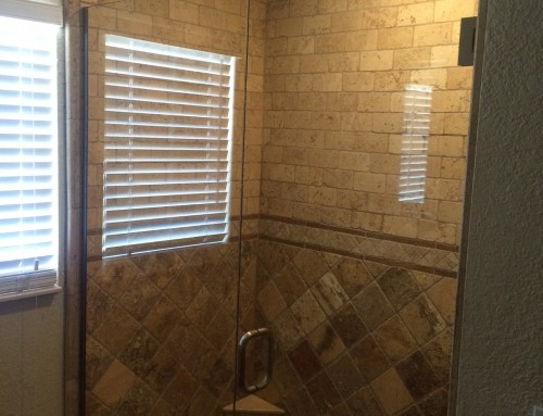 The Boss' Master Bath Shower